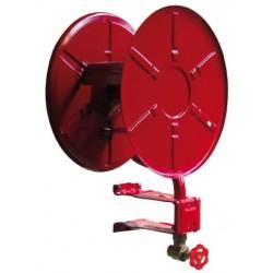Dévidoir EUR5 acier plastifié rouge incendie