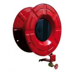 Dévidoir EUR9 acier plastifié rouge incendie